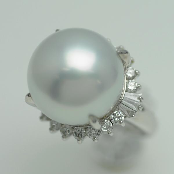 ♪リング 指輪♪ Pt900/南洋真珠16,5mm ダイヤD1,10/#13 【JR1672】【税込価格】【質屋出店】【中古】【あす楽対応】