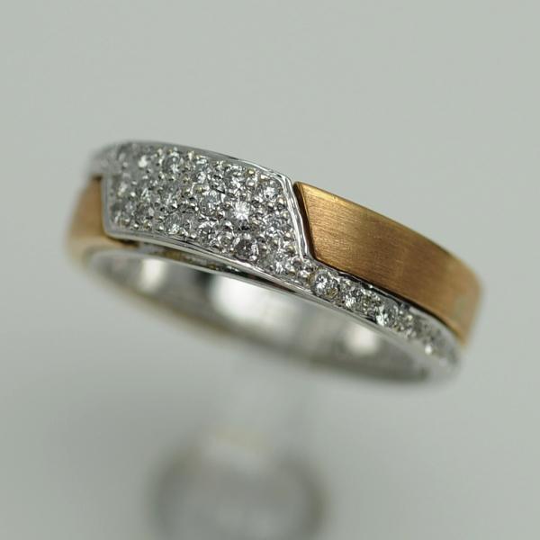 ♪リング 指輪♪ K18WGPG/ダイヤD0,47/ペンダント/#10 【JR1073】【税込価格】【質屋出店】【中古】【あす楽対応】