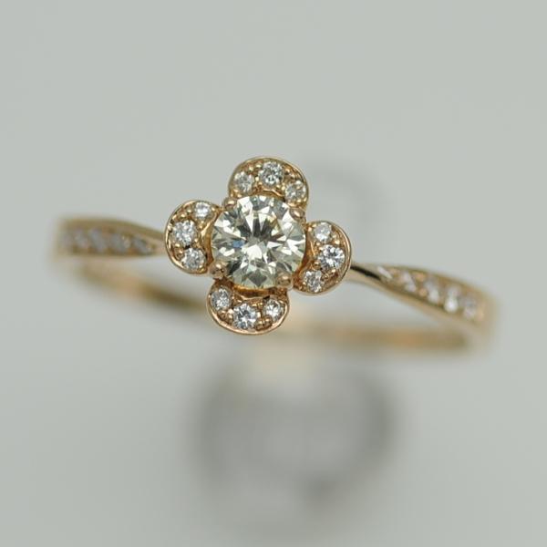 ♪リング 指輪♪ K18PG/ダイヤD0,209 0,09/#12 【JR1590】【税込価格】【質屋出店】【中古】【あす楽対応】