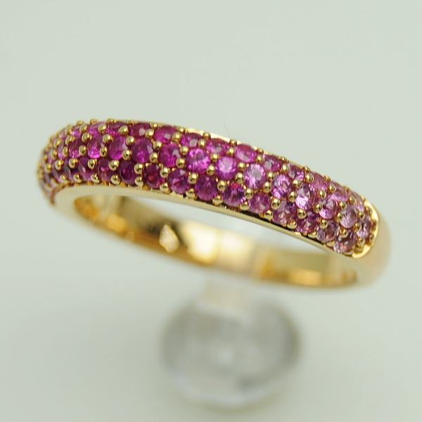 ♪リング 指輪♪ K18PG/ピンクサファイアPS1,17/#14 【JR1694】【税込価格】【質屋出店】【中古】【あす楽対応】
