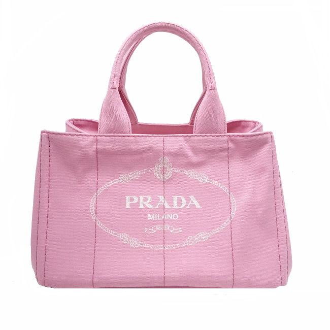 7010122d01e2 PRADA◇ トートバッグ カナパ キャンバス ピンク B1877B  BAG3394 ...