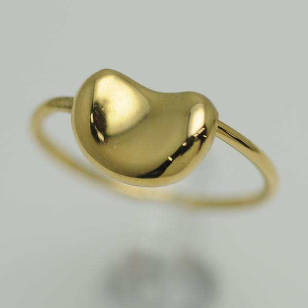 ◆ティファニー Tiffany&Co◆ リング/指輪/ビーンズリング/K18YG/#4 【BJ850】【税込価格】【質屋出店】【中古】【あす楽対応】
