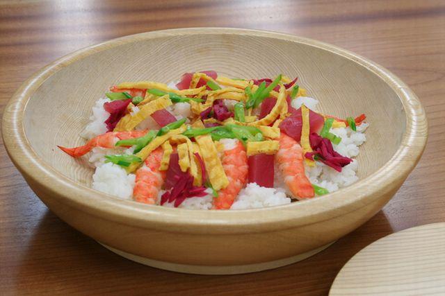 【送料無料】作りやすくておしゃれな ちらし寿司の器(こね鉢) 浅33cm