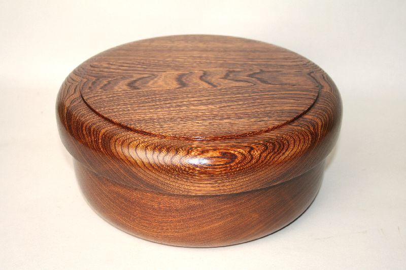 【国産栓の木 くりぬき】茶櫃 栓 27cm漆塗