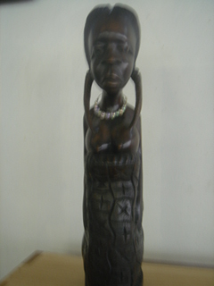 木彫りの黒人■送料無料
