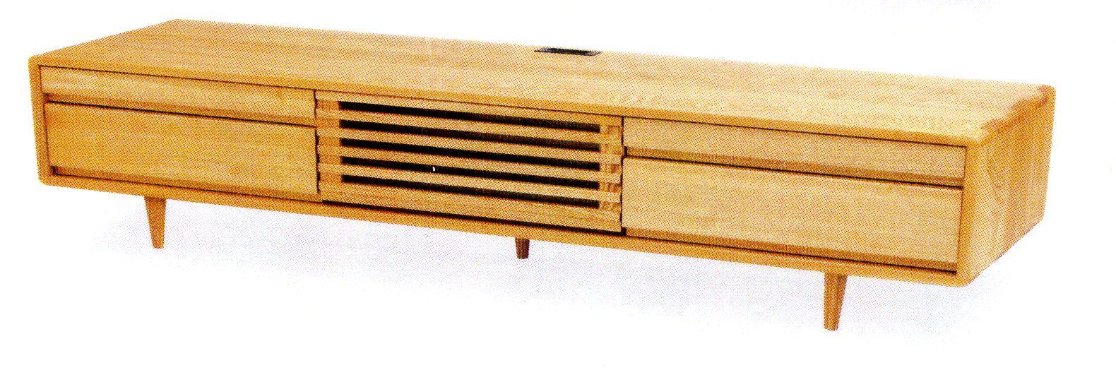 【関東内開梱設置送料無料】久和屋のSuite スイート タモ無垢の200幅TVボード
