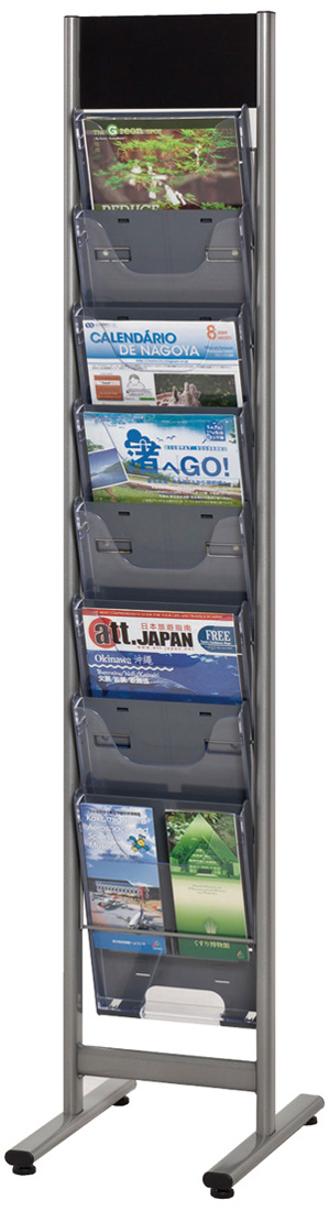 【日本製】パンフレットスタンド NPF-C108 (幅308×奥行き420×高さ1500)アジャスター付【グリーン適合】【送料無料】【smtb-k】