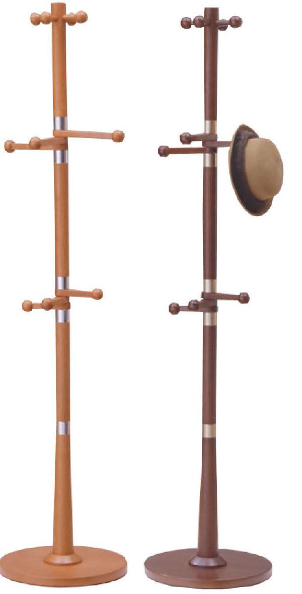 ハンガースタンド 木製ポールコートハンガー(PS-1001)ライトブラウン/ダークブラウン(φ400×H1750)【送料無料】【smtb-TK】