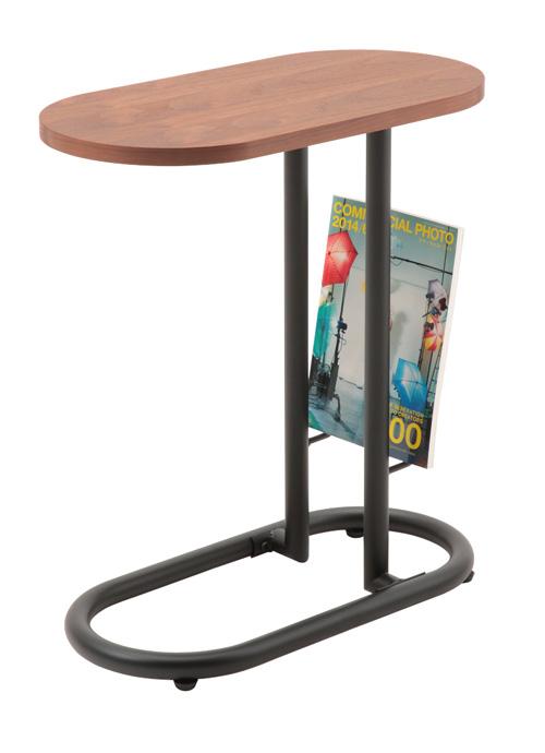 サイドテーブル コーヒーテーブル  BEAKビーク(ブックスタンド付)サイドテーブル(SST-240)(W500×D250×H555 )
