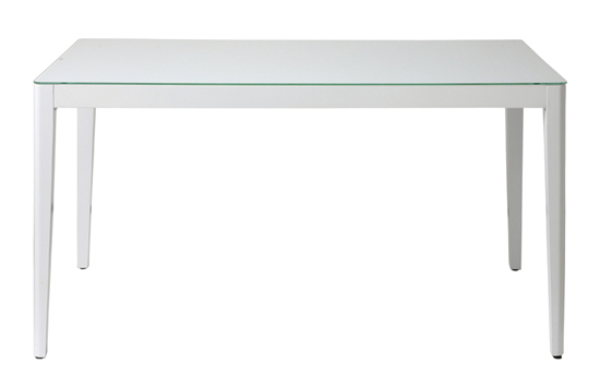 ダイニングテーブル WITHウイズ GDT-7681ホワイト (W1500×D800×H720)天板:6mm厚強化ガラス(飛散防止フィルム加工)天板耐荷重30kg【組立】【送料無料】