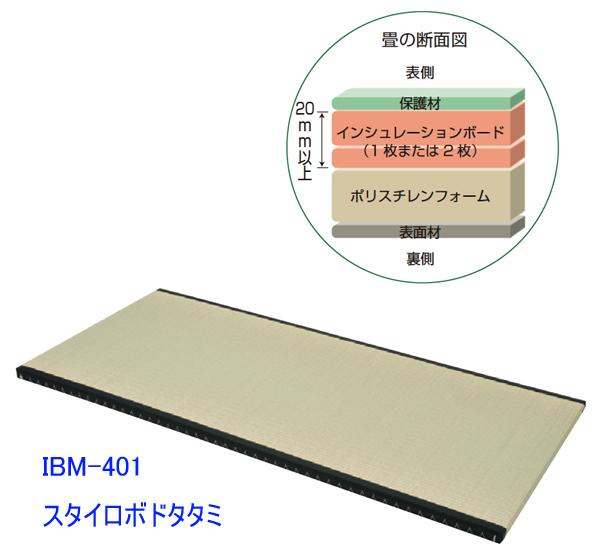 【受注生産商品】業務用2段ベット・スタイロボードタタミマットレス(IBM-401)(W900×L1950×t35)【送料無料】【smtb-TK】