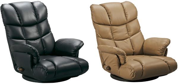 【日本製】【完成品】スーパーソフトレザー座椅子(YS-1393)ブラック/ブラウン/ワイン幅64×奥行70~128×高さ35~74(座高20cm) 【送料無料】【smtb-TK】