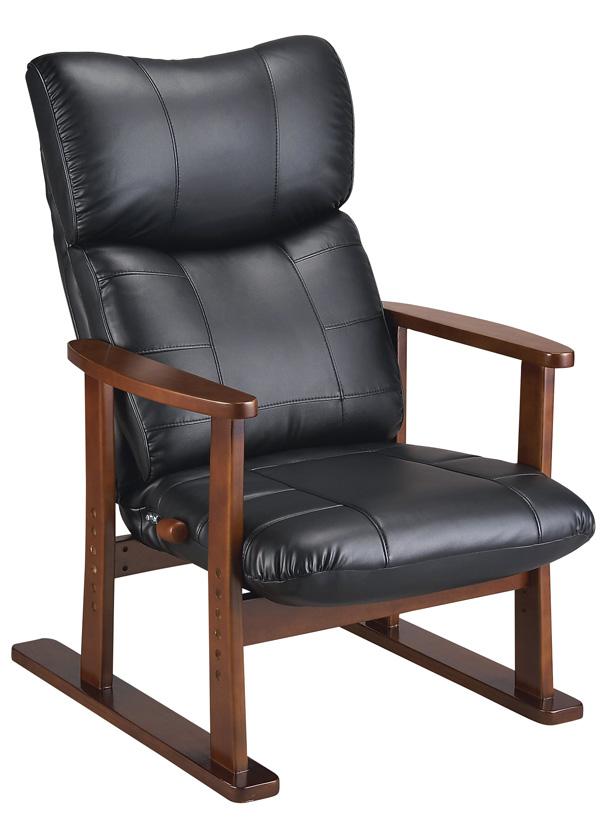 【日本製】【組立】スーパーソフトレザー高座椅子YS-D1800HR (ブラック/ワインレッド/ブラウン) 幅67×奥行76~125×高さ95~107(座高33・36・39・42・45cm) 【送料無料】【smtb-TK】