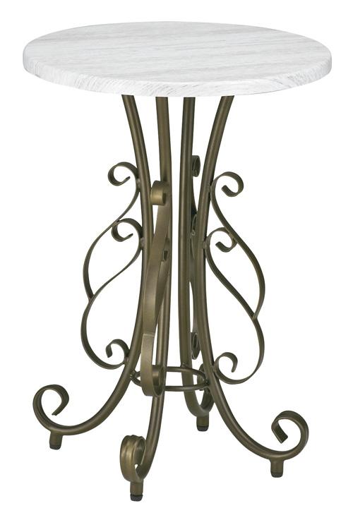 ラウンドテーブル センターテーブル サイドテーブル(ST-400)完成品 アジャスター付 W40xD40xH56.5cm スチール(粉体塗装)木目柄塩化ビニール貼りMDF