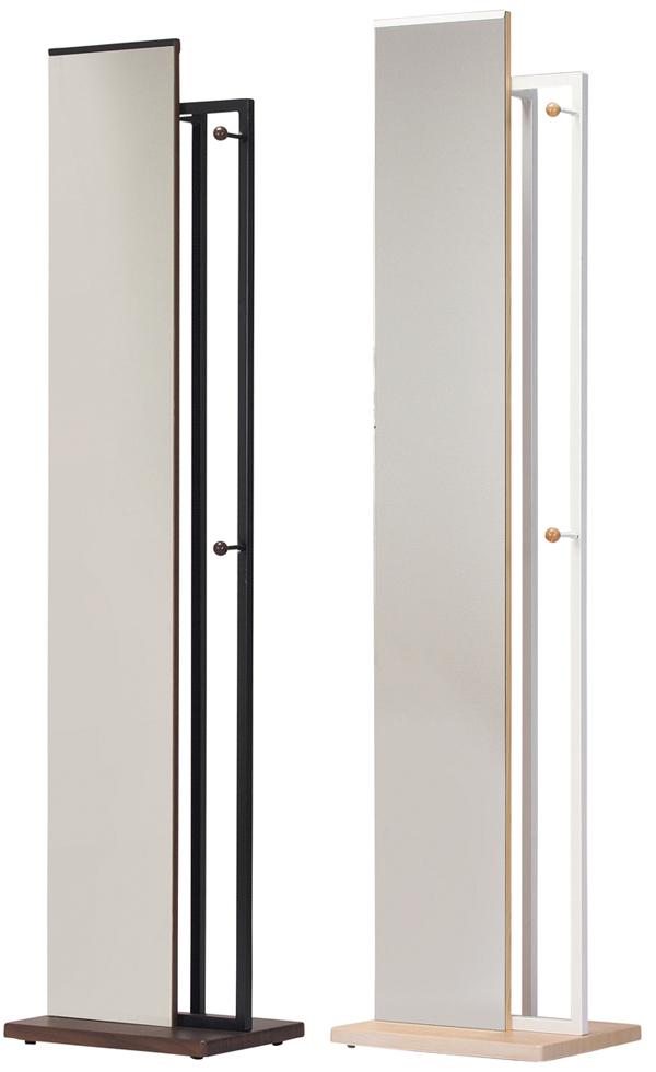 ハンガーラック ハンガー付ミラーHannger&Mirror(HM-400 )●鏡:飛散防止加工(W400×D300×H1630mm)【送料無料】【smtb-TK】
