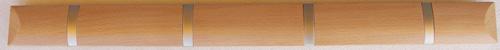 ウォールハンガー 収納タイプ4フック ブラウン/ナチュラル W638×D25×H55