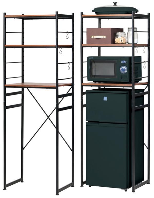 冷蔵庫ラックRZR-4518(BR/NA) ブラウン/ナチュラル W580×D450×H1800mm 【送料無料】【smtb-TK】