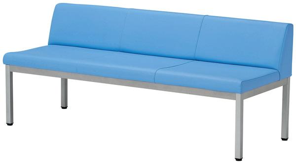 【安心の日本製】ロビーチェア(長椅子) LZS-150(背付1500)幅150×奥行58×高さ64(座面高42) 基本色(ブルー・グリーン・ピンク・アイボリー)全色15にも対応【送料無料】【smtb-TK】