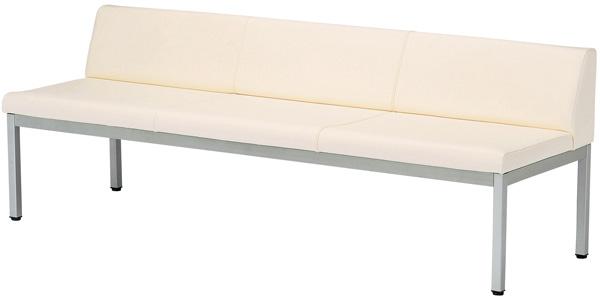 【安心の日本製】ロビーチェア(長椅子) LZS-180(背付1800)幅180×奥行58×高さ64(座面高42) 基本色(ブルー・グリーン・ピンク・アイボリー)全15色にも対応【送料無料】【smtb-TK】