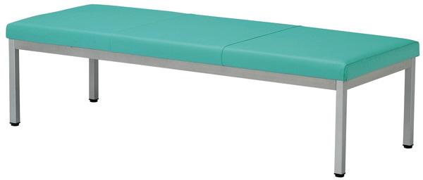 【安心の日本製】ロビーチェア(長椅子) LZ-1500(背無1500)幅150×奥行58×高42 基本色(ブルー・グリーン・ピンク・アイボリー)全15色にも対応【送料無料】【smtb-TK】