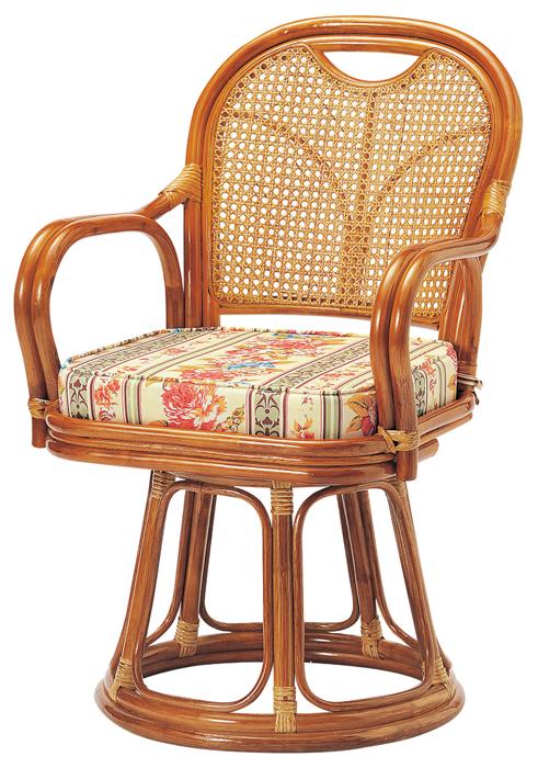 ラタン椅子回転 R-440S ハイタイプ(SH440)W520×D570×H840(SH440)mm○座360°回転式○背はカゴメ編みです。【送料無料】【smtb-TK】