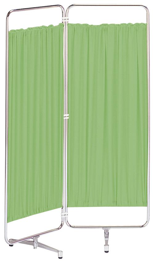 【送料無料】シンプルな防炎+制菌カーテンスクリーン衝立 折り畳みAS-56-2(二つ折)ブルー・グリーン・ベージュ・ピンク・ホワイトW900×H1530(W450×H1530×2枚)アジャスタ脚【smtb-TK】