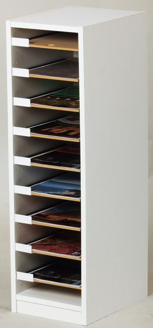 ファイルケース・フロアケース(KAW-12)W275××H900mm棚板有効内寸:W233×D330(A4ファイル対応)【日本製】
