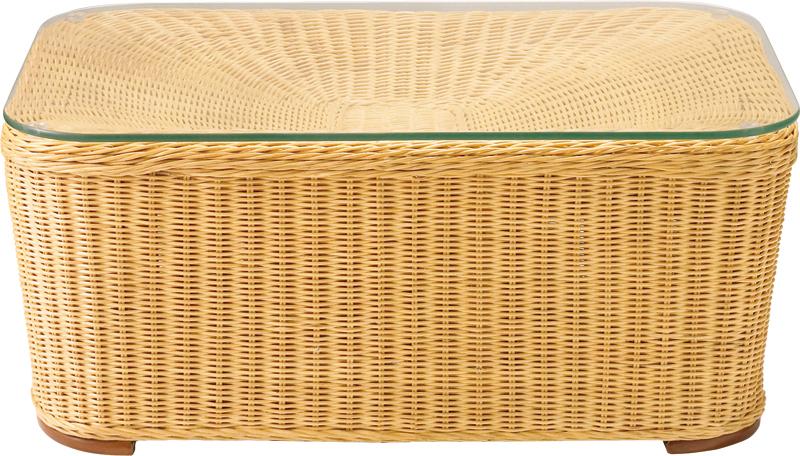 【メーカー在庫処分品】カクコットテーブル75(ナチュラル)強化クリアガラス8mm厚W750×D500×H300【送料無料】【smtb-TK】