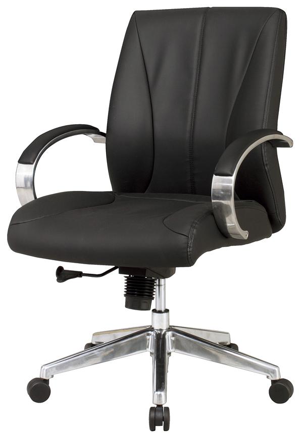 【送料無料】OfficeChairオフィス肘付チェア MG-140Lマネジメントチェア 座昇降機構付・ロッキング機能付 合成皮革(ポリウレタンレザー)W650×D685×H1000~1070(SH445~515)mm【smtb-TK】