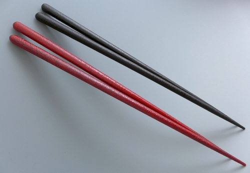 本乾漆夫婦箸(丸箸) 本漆塗り ケース入り お箸セット 木製漆塗り