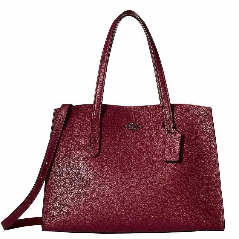 コーチ 2018-19新作 ブティックライン ずっと使いたいバッグ置いています バッグ 物品 チャーリー キャリーオール デープ レッド 送料無料 日本最大級の品揃え 母の日 25137