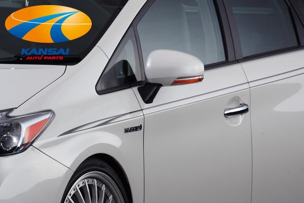 サイドビューにアクセントをプラス 車種専用タイプなのでぴったりフィット 人気 選べる5カラー SilkBlazeシルクブレイズ デコライン 30系プリウス ガンメタリック 現金特価 シルバーメタリック