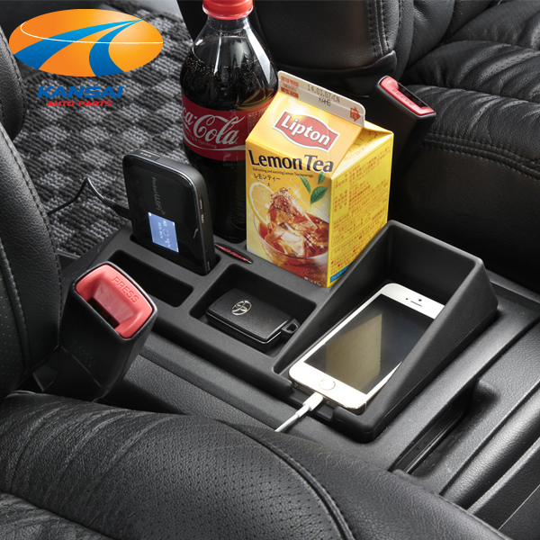 間仕切りされたトレイで小物 高級品 ドリンク 携帯電話をスマート収納 シルクブレイズ20系アルファード 買取 SilkBlaze ヴェルファイアセンターコンソールトレイ