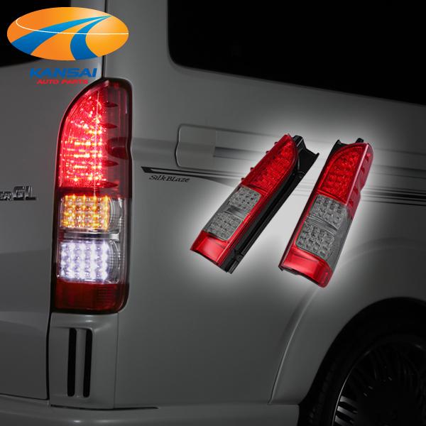 ★K'SPEC GARAX ギャラクス★フルLEDテールランプ200系ハイエース1型~4型[レッド/スモーク]