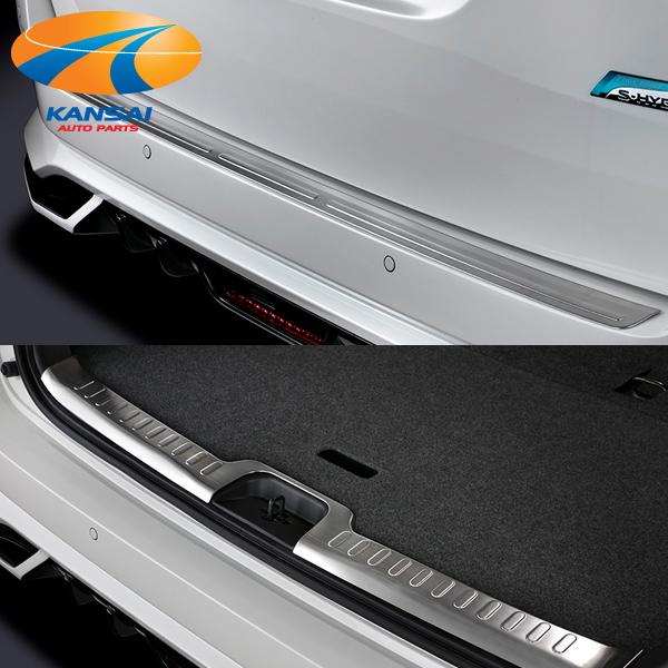 SilkBlazeシルクブレイズステンレス2点セットリアバンパープロテクター/ラゲッジスカッフプレートC27セレナ