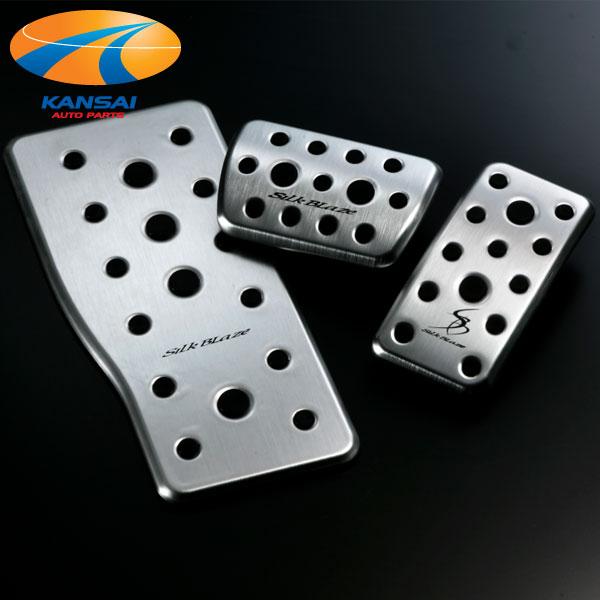 30系アルファード/ヴェルファイアアルミスポーツペダル/フットレストプレート 3PSilkBlaze