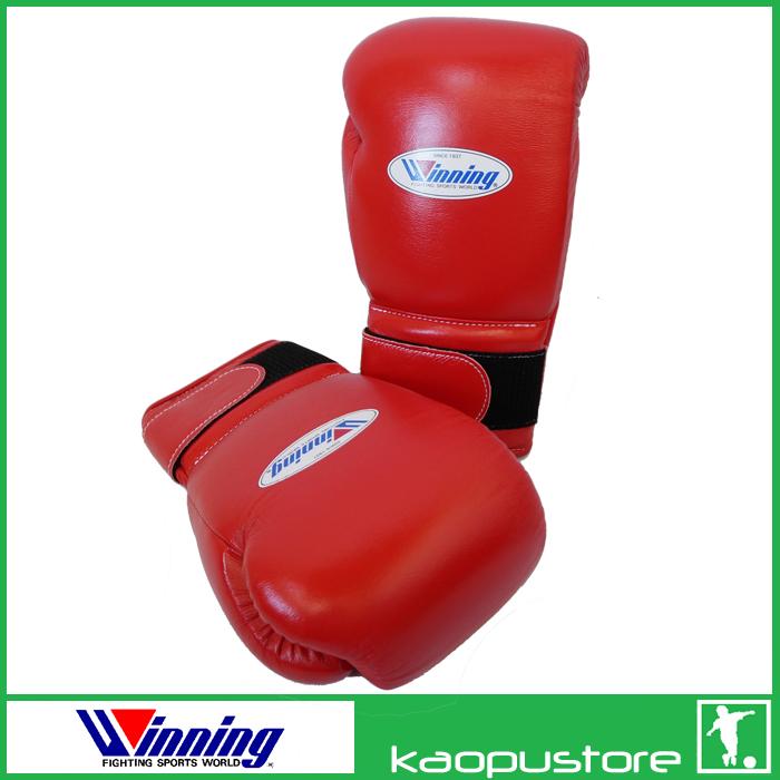 kaopustore winning boxing gloves velcro velcro 12 oz leather