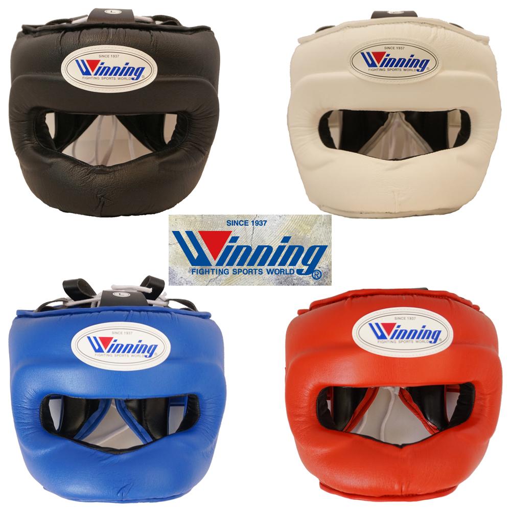 FG5000 ウイニング【Winning】ボクシング ヘッドギアフルフェイスタイプ鼓膜保護ガード付き