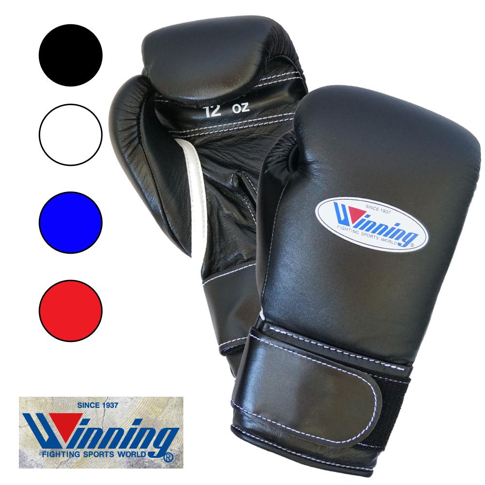MS400B ウイニング【Winning】ボクシンググローブマジックテープ式ベルクロ12オンス【基本4色】牛革プロフェッショナルタイプ