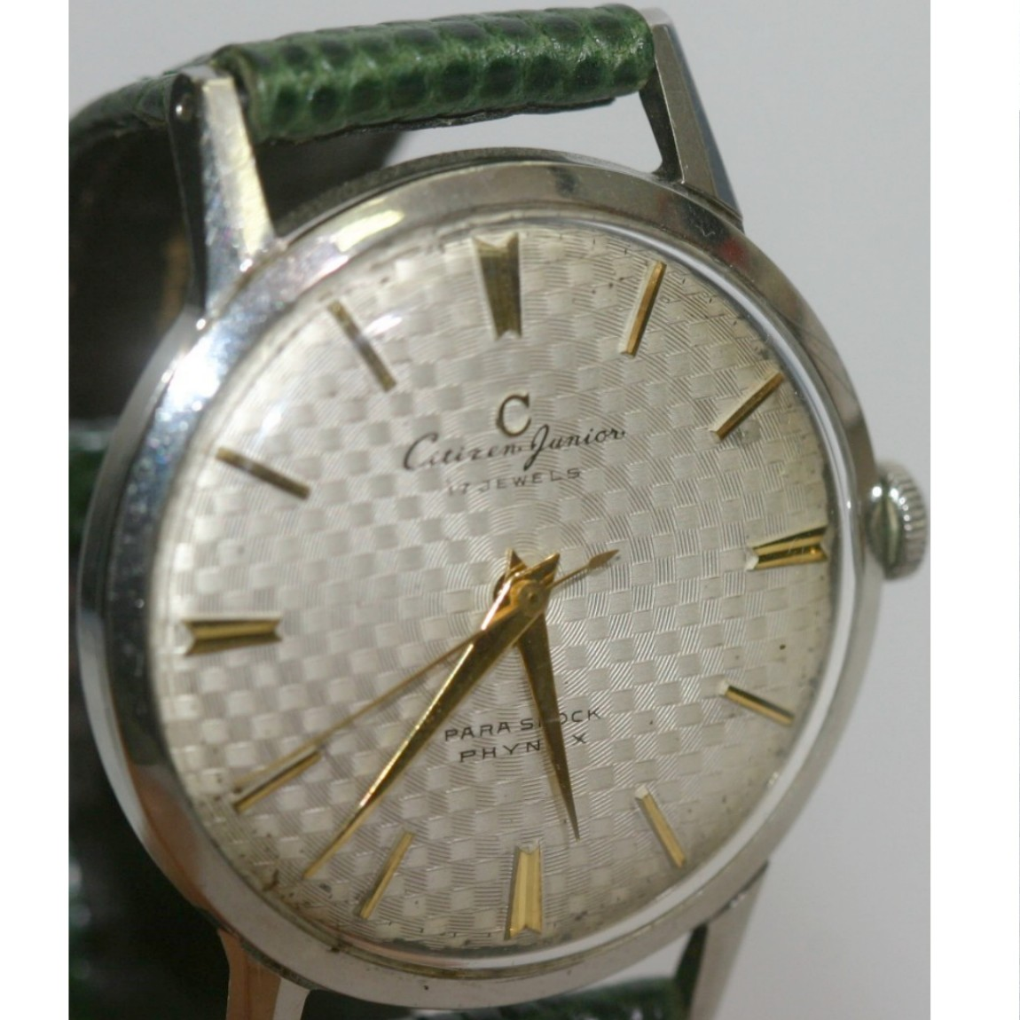 【中古】本物完動品レアなシチズン手巻きの紳士用時計ジュニア17石1950年代センターセカンド1ヶ月保障つき 290912-1