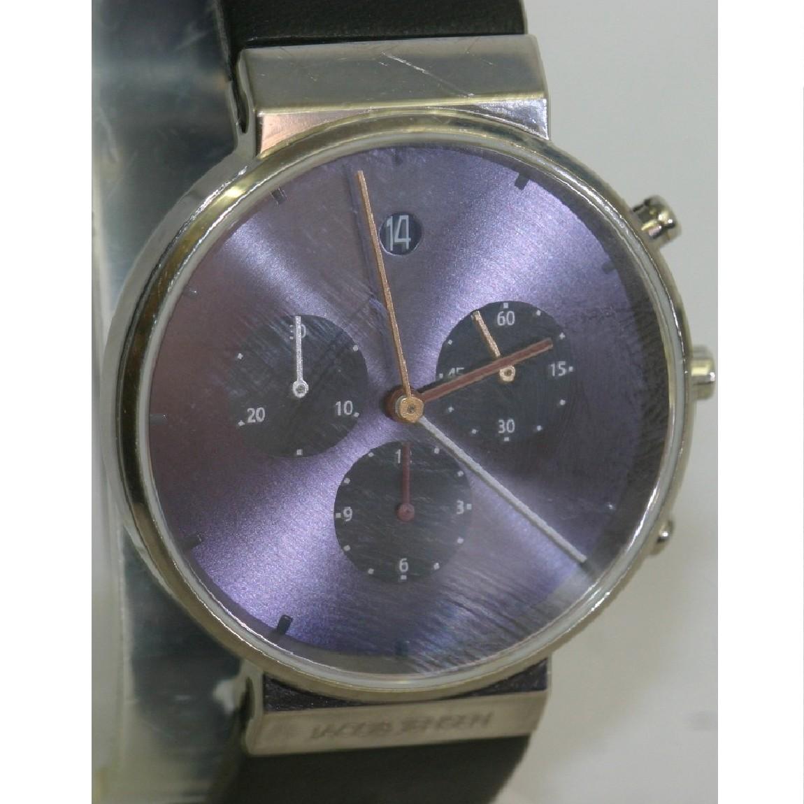 【中古】本物美品ヤクボエンセンクロノのブルー文字盤のシンプルな時計605 1ヶ月保障つき購入価格45360円