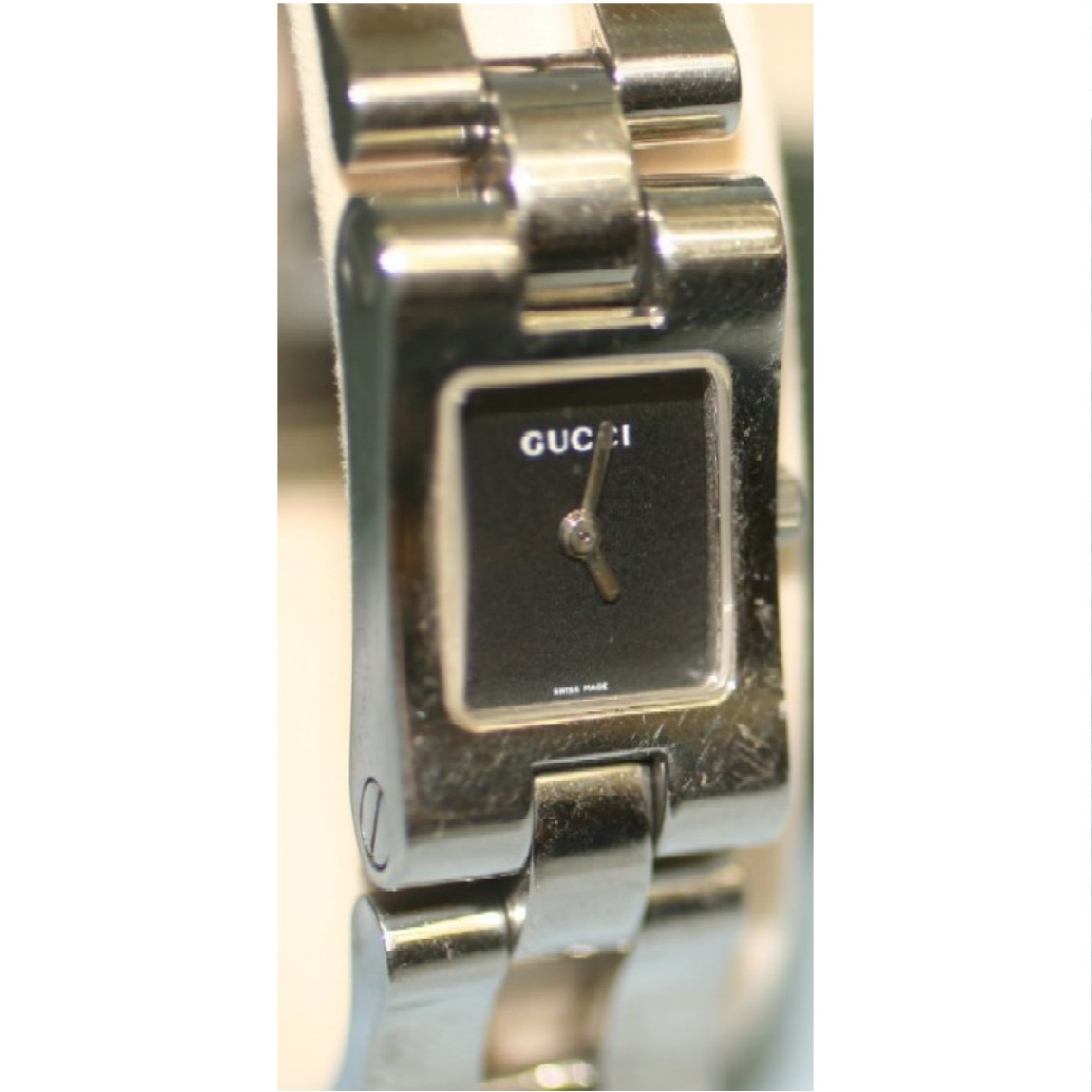 970ebabb0aa Real end motion beauty products Gucci women s bambubles type silver watch  2305L 1 month warranty