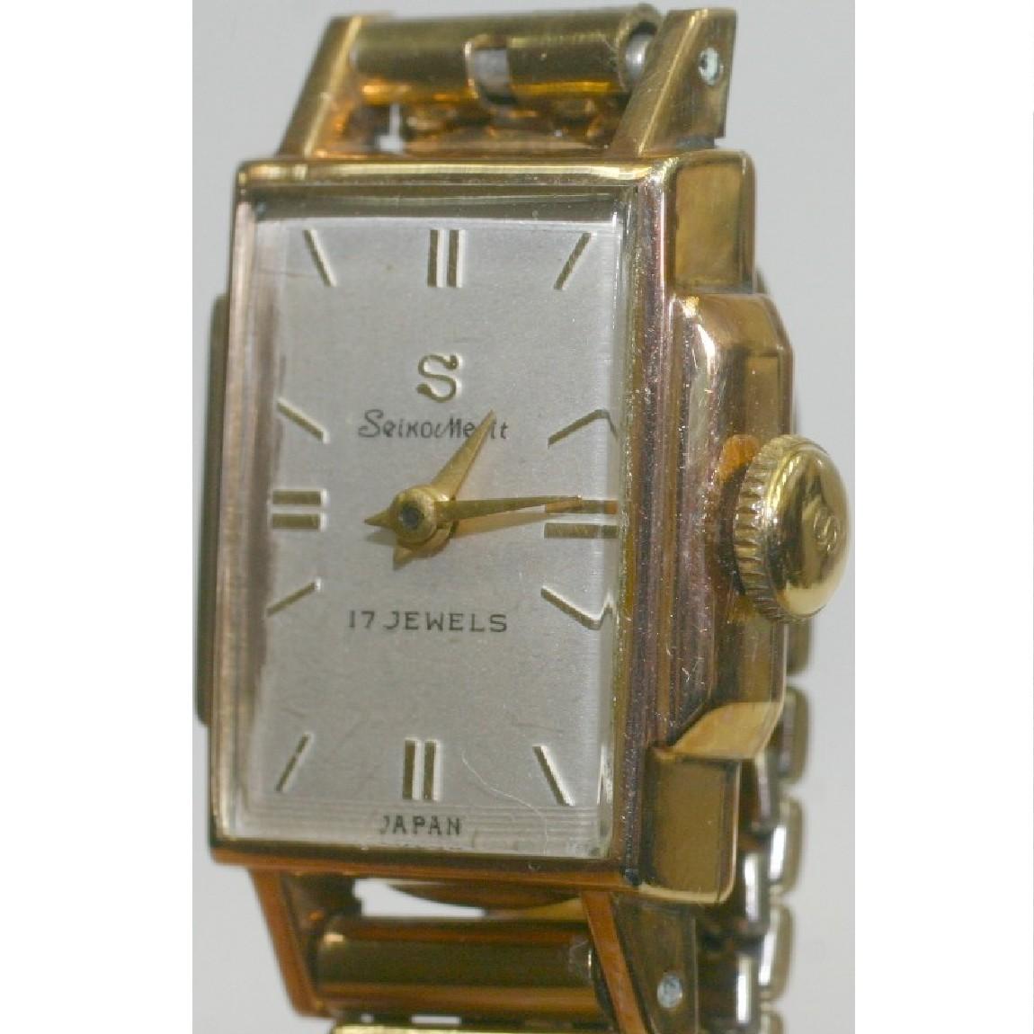 【中古】本物完動美品珍しい14Kゴールドフィルド SマークSeiko Merit セイコーメリット 昭和30年代女性用時計