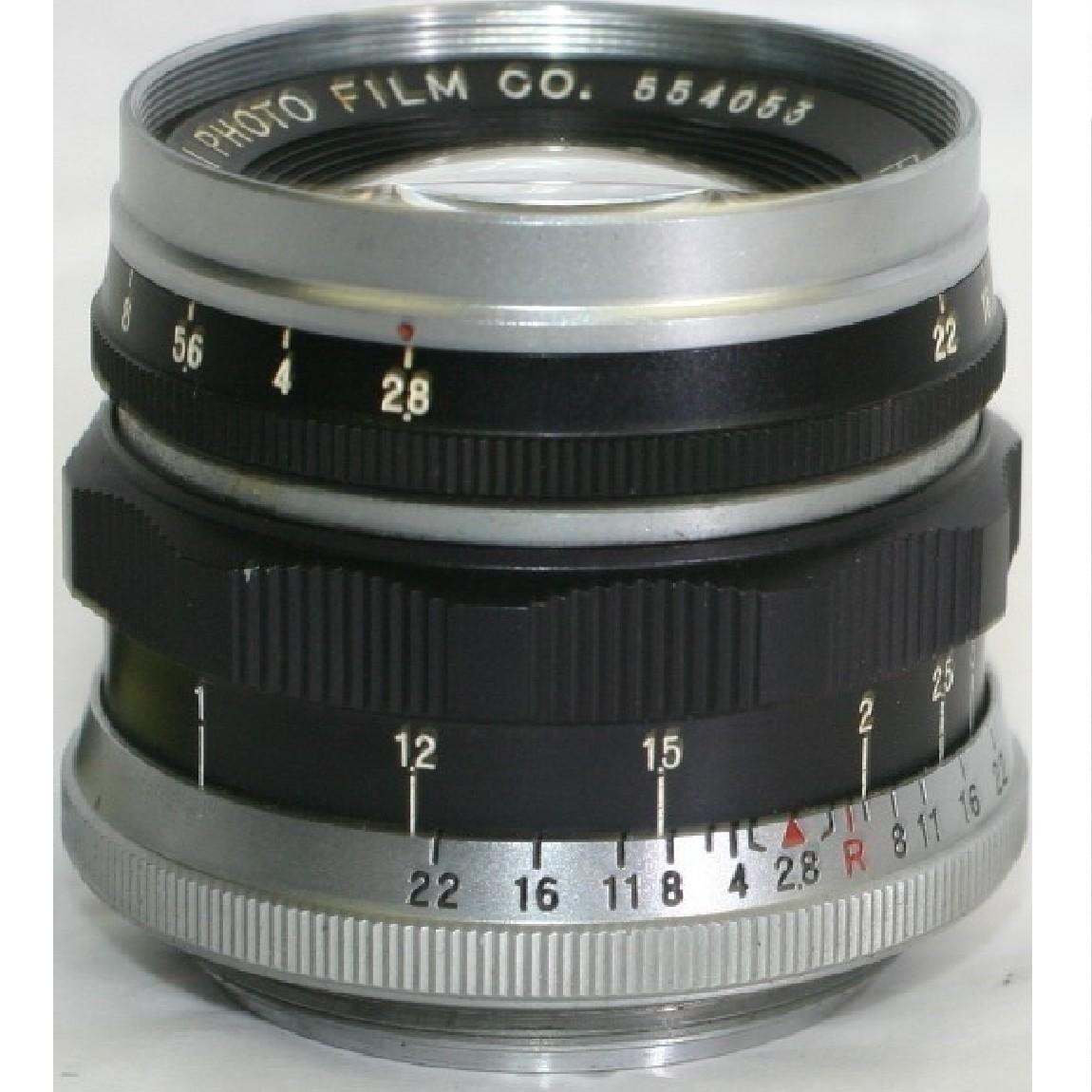【中古】完動美品フジフィルムのライカスクリューマウントの標準レンズ50mm2,8L動作がスムーズです ○F11-20-1