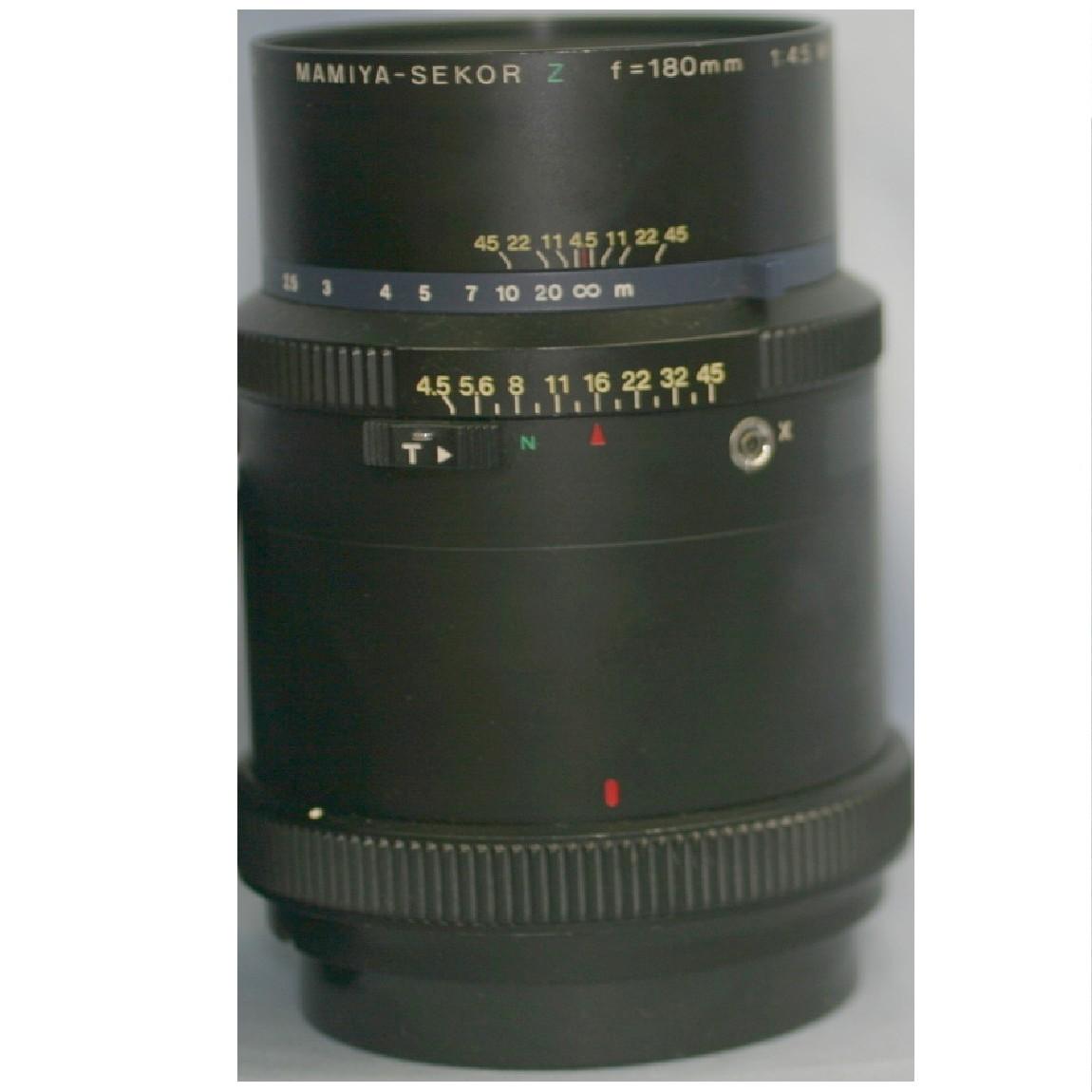 【中古】本物完動美品マミヤ中判カメラRZ67用レンズ180mmF4,5W-M ○F5-7