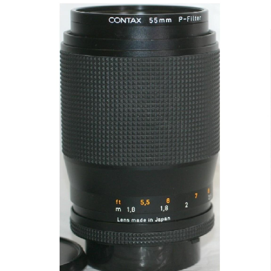 【中古】ほぼ新品コンタックスのCarl ZeiesのレンズSonner135mm/2,8中間・Tレンズ ○F13-19