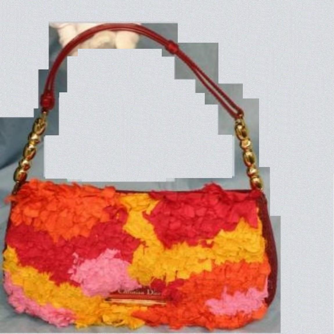 【中古】本物綺麗C,Diorの26センチお洒落なカラフルセミショルダー