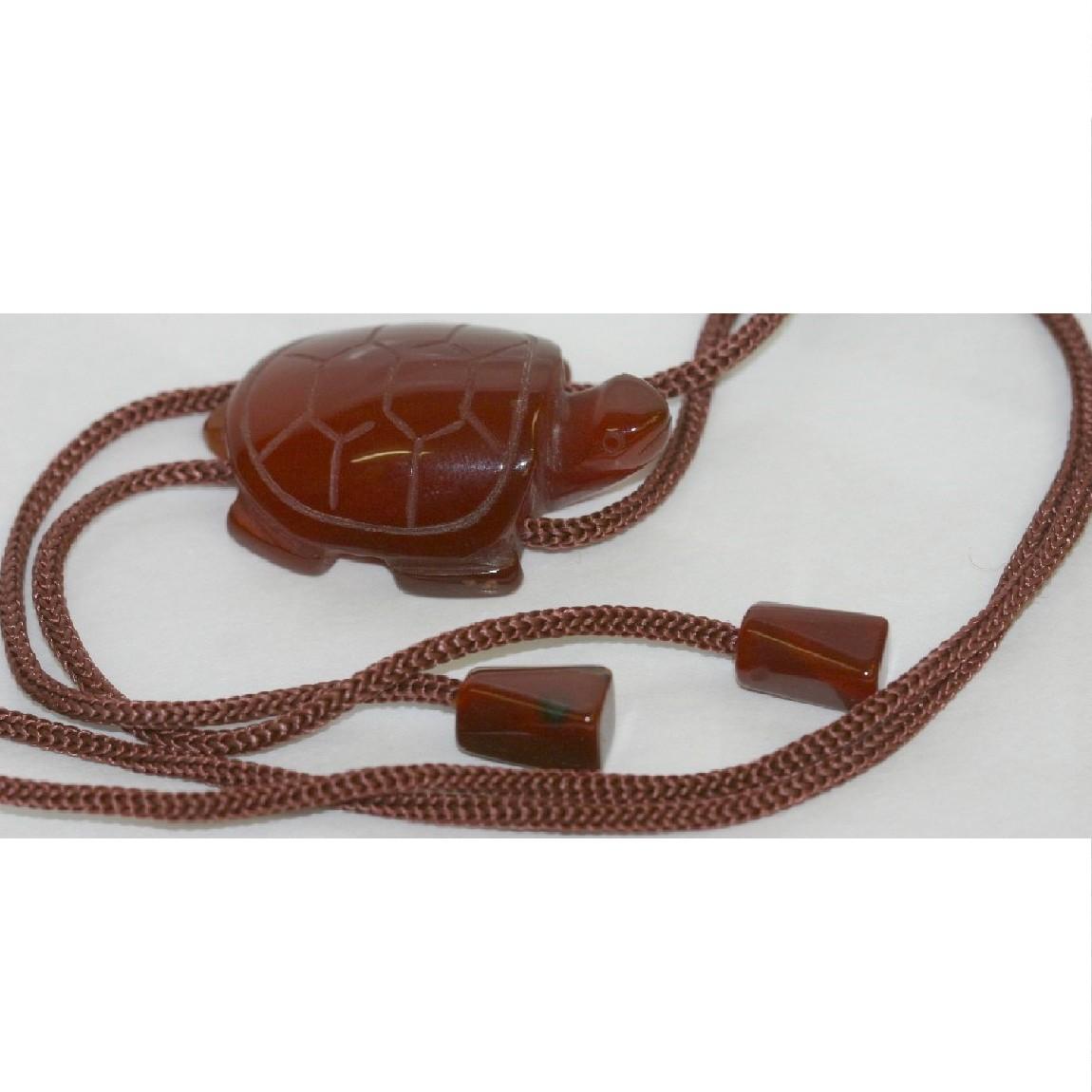 本物綺麗紳士用亀の形の紅玉髄 カーネリアン のループタイ W3H4 6D1 9cm ○B12 2vwOnPmN0y8