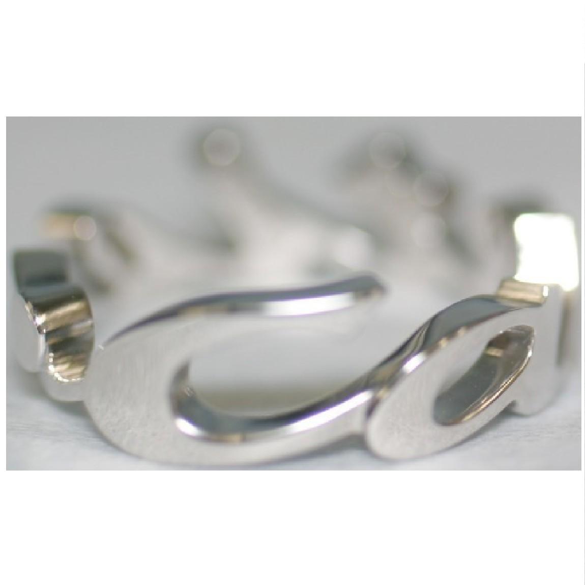 【中古】本物カルティエで新品仕上げ済みカルティエK18ホワイトゴールドクリスマス限定シグネチャーモチーフの指輪サイズ49