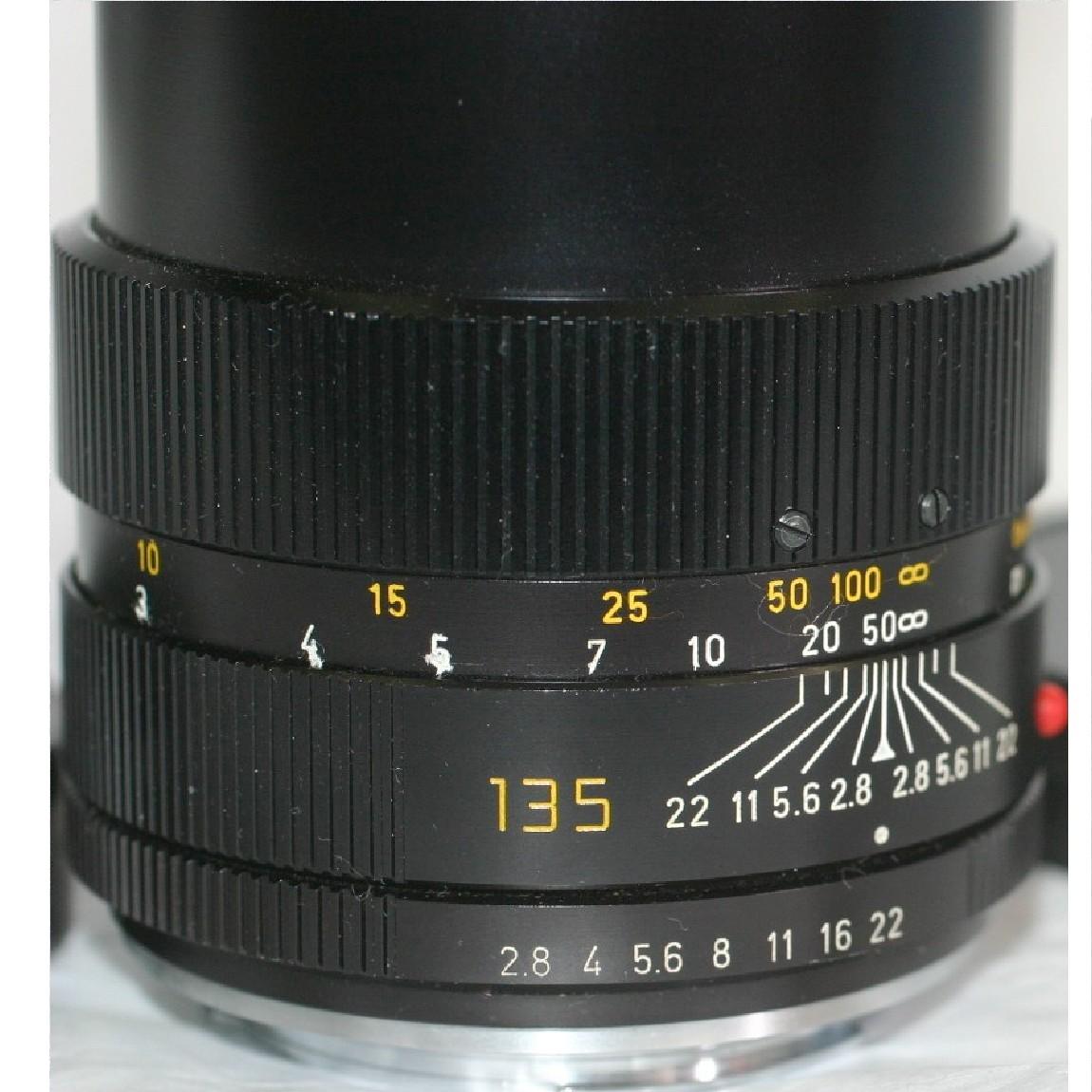 【中古】ライカエルマリート135mmF2,5ライカエヌマウントのレンズ